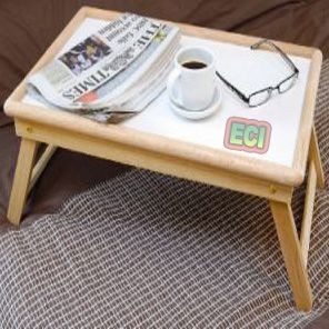 Buy Bedroom Breakfast & Laptop E Table Multi-purpose Wooden Foldable Stand online