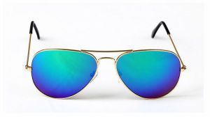 Buy EDGE Plus Blue Mirrored Aviator Sunglasses For All online