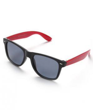Buy New Stylish Black With Red Wayfarer Style Sunglass online