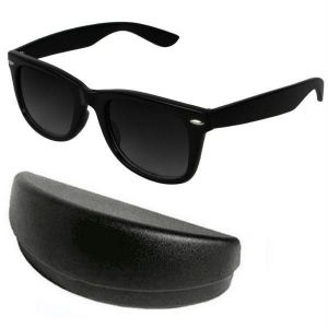 Buy Classic Black Wayfarer Sunglasses With Hard Case online