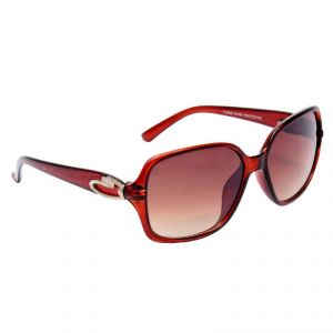Buy Optical Express Plastic Brown Color Cateye Shape Women Sunglasses online