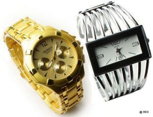 Buy Stylish Combo Mens Watch And Womens Watch online