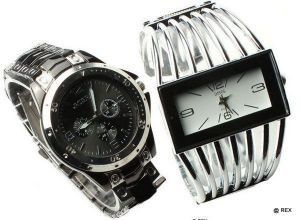 Buy Stylish Combo - Mens Watch And Womens Watch -054 online