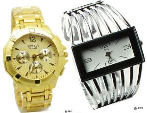 Buy Stylish Combo - Mens Watch And Womens Watch -060 online