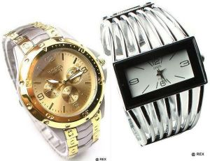 Buy Stylish Combo - Mens Watch And Womens Watch -061 online