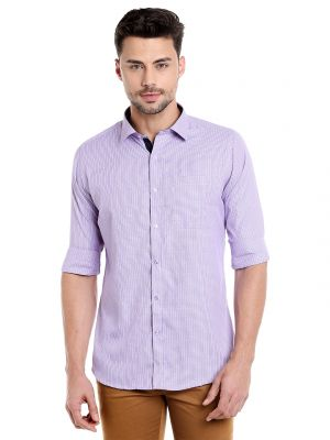 Buy Solemio 100 Percent Cotton Full Sleeve Shirt For Mens online