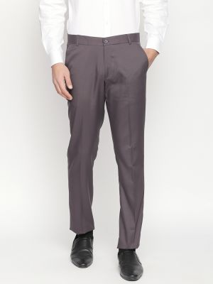 5dae8a47988148 Buy Solemio Brown Formal Trouser For Mens Online | Best Prices in ...