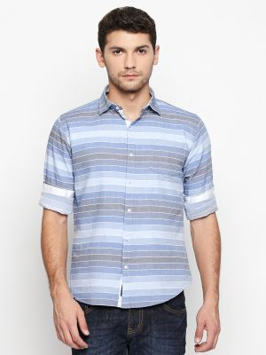 Buy Solemio Blue Shirt For Mens (code - S18sh1087ebu) online
