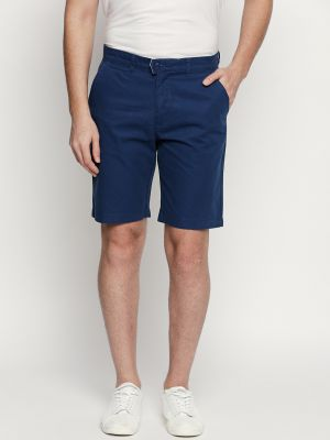 Buy Fitz Blue Cotton Shorts For Mens online