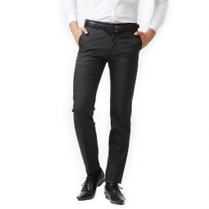 Buy Solemio Black Trouser For Mens (code -s18tr3044ebl) online