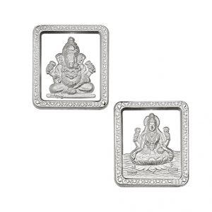 Buy Laxmi Ganesh Silver Coin Hamper online