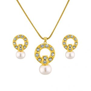 Buy Sri Jagdamba Pearls Cz Trend Setter Necklace Set Code 6414 online
