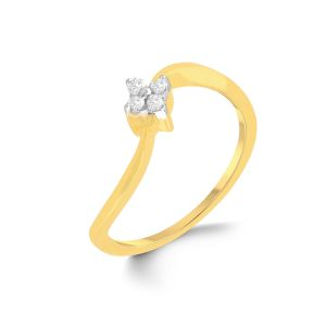 Buy Jpearls 18 Kt Gold Princess Diamond Finger Ring online