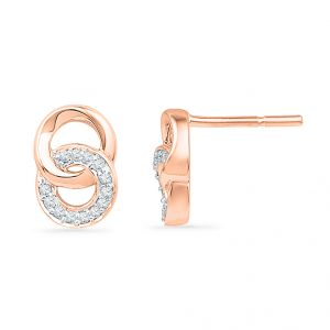 Buy Jpearls 18kt Rose Gold Diamond Earrings online