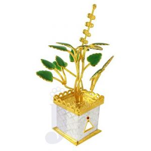 Buy Jpearls Golden Tulsi Silver Plant online