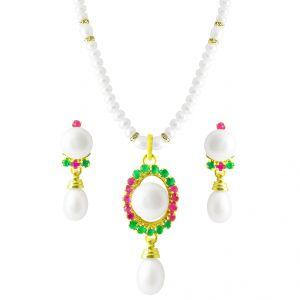 Buy Jpearls Colourful Pearl Pendant Set online
