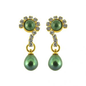 Buy Jpearls Grey Pearl Earrings online