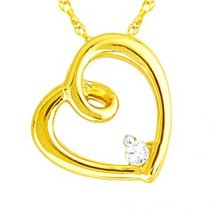 Buy Jpearls Lucky Heart Diamond Pendant online