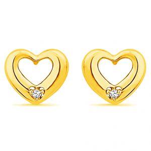 Buy Jpearls Heart Shape Real Daimond Earrings online