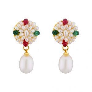 Buy Jpearls Graceful Drop Pearl Earrings online