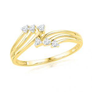 Buy Jpearls The Angel Diamond Finger Ring online