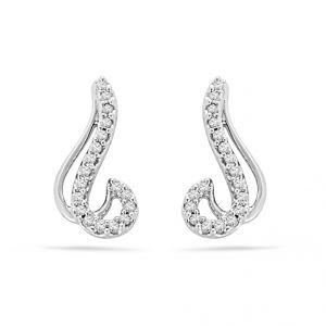 Buy Jpearls Limpid Diamond Earrings online