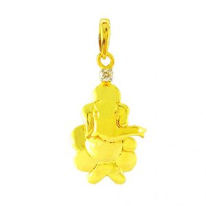 Buy Jpearls Sri Ganesh Diamond Pendent- For Mens online