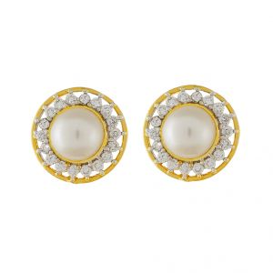 Buy Sri Jagdamba Pearls Pretty Pearl Earrings-jpjan-17-026 online