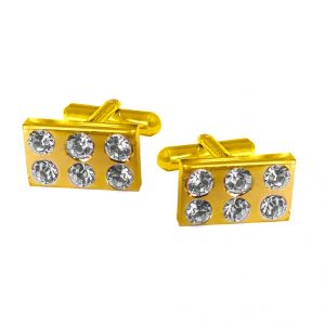 Buy Sri Jagdamba Pearls Cz Studded Gold-plated Cufflink - Jpjan-17-037 online