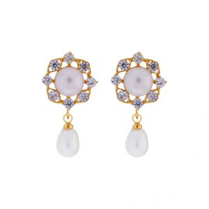 Buy Sri Jagdamba Pearls Trendy Drop Earrings online