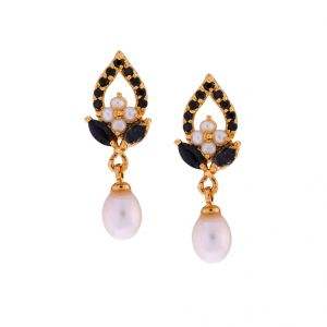 Buy Sri Jagdamba Pearls Diya Drop Earrings online