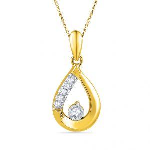 Buy Jpearls Lovely Drop Diamond Pendant online