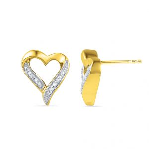 Buy Jpearls Lovely Heart Diamond Earrings online