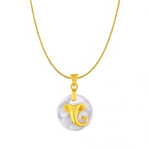 Buy Sri Jagdamba Pearls 22kt Pure Gold Chain With Pendant - Jpmay-16-079c online