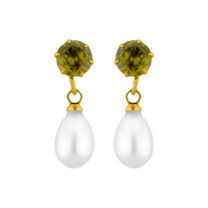 Buy Jpearls Greenstone Earrings online