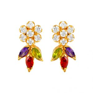 Buy Jpearls Flower Stone Earrings online