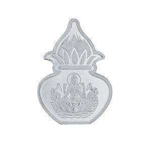 Sri Jagdamba Pearls 5 Grams 99 9% Laxmi Kalash Silver Coin Code  Jpsep-16-051-5