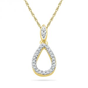 Buy Jpearls 18 Kt Gold Kaira Diamond Pendant online