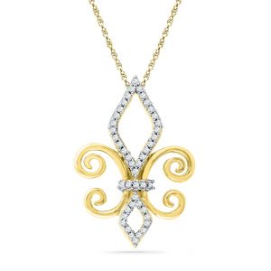 Buy Jpearls 18 Kt Gold Khalifadiamond Pendant online