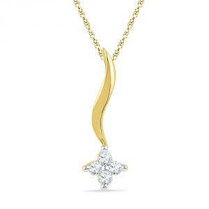 Buy Jpearls 0.080 Carat Shinning Star Diamond Pendant online