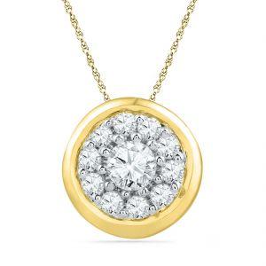 Buy Jpearls 18 Kt Gold Blossom Diamond Pendant online