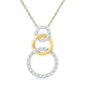 Buy Jpearls 18 Kt Gold Angeldiamond Pendant online