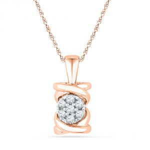 Buy Jpearls 18 Kt Rose Gold Exquisite Diamond Pendant online
