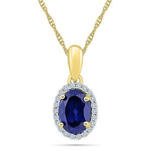 Buy Sri Jagdamba Pearls 18Kt 1.49 Grams Gold & Diamond Pendant online