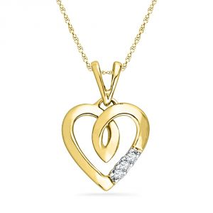 Buy Jpearls Cute Heart Diamond Pendant online