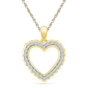Buy Jpearls Valentines Day Special Sizzling Heart Diamond Pendant online