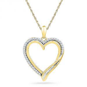 Buy Jpearls 18 Kt Gold Flawless Heart Diamond Pendant online