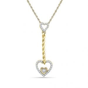 Buy Sri Jagdamba Pearls Drop Heart Real Diamond Pendant-ph019294 online