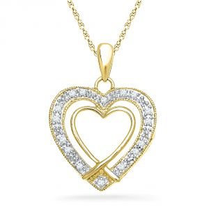 Buy Jpearls 18 Kt Gold Ever Lasting Diamond Pendant online