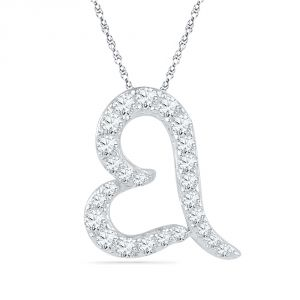 Buy Jpearls 18 Kt Gold Shining Heart Diamond Pendant online